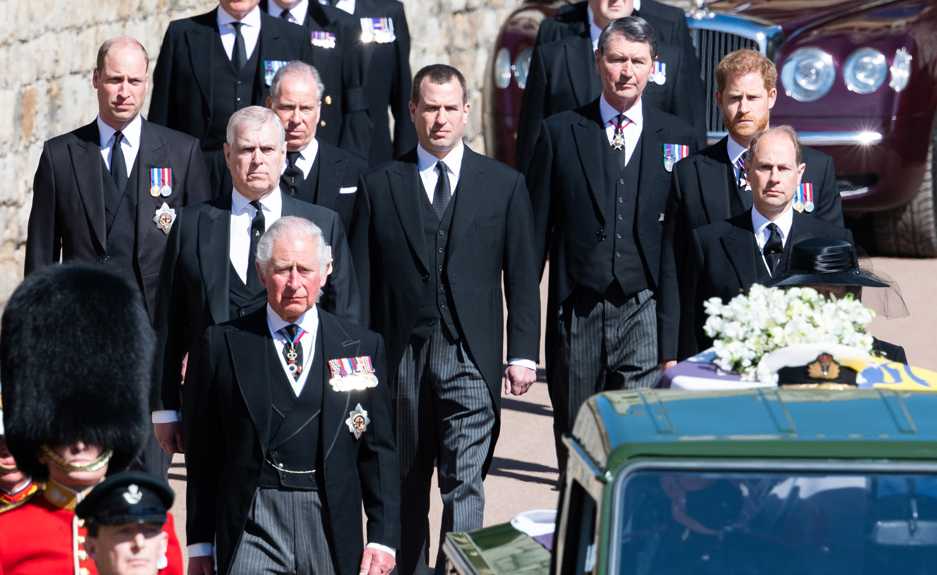 Photos From Prince Philip's Funeral Show The Royal Family In Mourning
