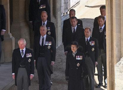 The royal family says goodbye.