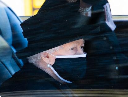 Queen Elizabeth at her husband's funeral.
