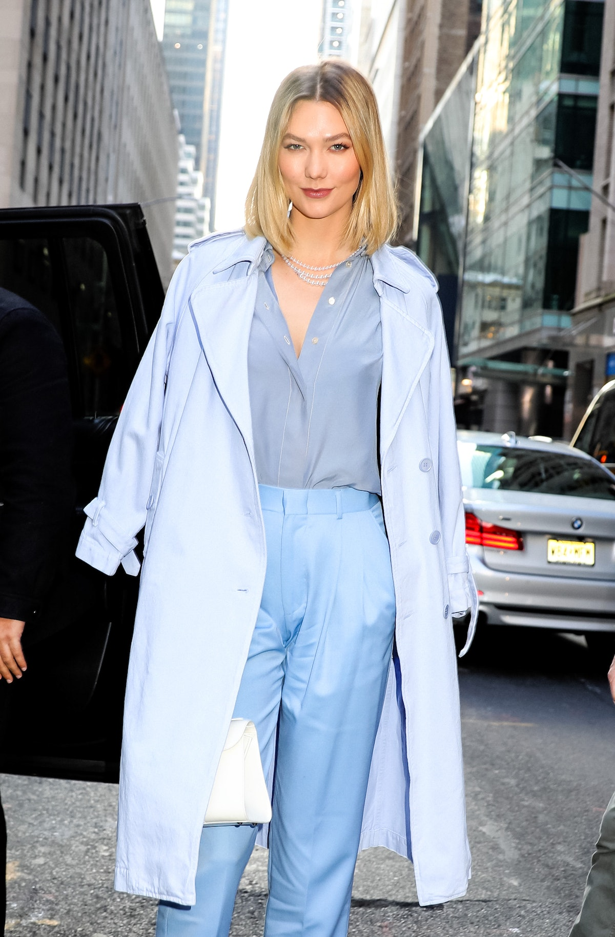 NEW YORK, NY - MARCH 06: Karlie Kloss is seen on March 06, 2020 in New York City.  (Photo by Jose Pe...