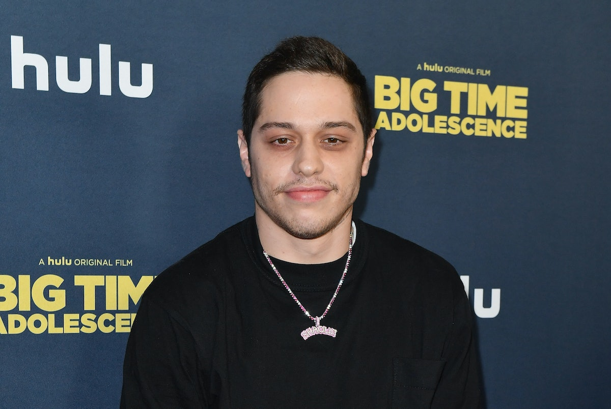 """US comedian Pete Davidson attends the premiere of Hulu's """"Big Time Adolescence"""" at Metrograph on Mar..."""