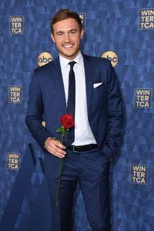 """Star of """"The Bachelor"""" season 24 Peter Weber attends ABC's Winter TCA 2020 Press Tour in Pasadena, California, on January 8, 2020. (Photo by VALERIE MACON / AFP) (Photo by VALERIE MACON/AFP via Getty Images)"""
