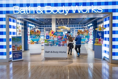 TORONTO, ONTARIO, CANADA - 2016/02/28: Bath & Body Works store entrance in mall: Store known for selling body products. (Photo by Roberto Machado Noa/LightRocket via Getty Images)
