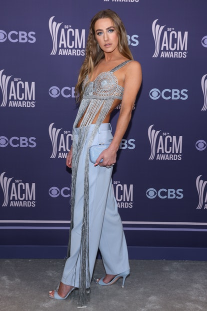 NASHVILLE, TENNESSEE - APRIL 18: In this image released on April 18, Ingrid Andress attends the 56th Academy of Country Music Awards at the Grand Ole Opry on April 18, 2021 in Nashville, Tennessee. (Photo by John Shearer/ACMA2021/Getty Images for ACM)
