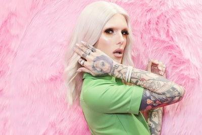 BOLOGNA, ITALY - MARCH 17:  Singer and Make up Artist Jeffree Star poses for photos at Cosmoprof at BolognaFiere Exhibition Centre on March 17, 2018 in Bologna, Italy.  (Photo by Rosdiana Ciaravolo/Getty Images)
