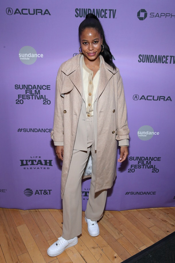 PARK CITY, UTAH - JANUARY 28: Taylour Paige attends the 2020 Sundance Film Festival Cinema Cafe With Zazie Beetz, Elle Lorraine And Taylour Paige at Filmmaker Lodge on January 28, 2020 in Park City, Utah. (Photo by Rich Fury/Getty Images)