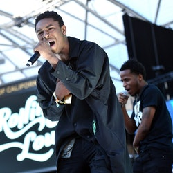LOS ANGELES, CALIFORNIA - DECEMBER 15: Rapper TeeJayX6 performs onstage during day 2 of the Rolling Loud Festival at Banc of California Stadium on December 15, 2019 in Los Angeles, California. (Photo by Scott Dudelson/Getty Images)