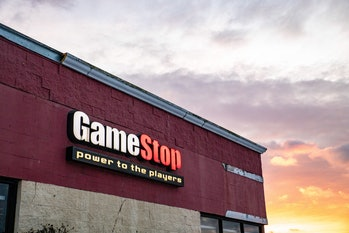 ATHENS, OHIO, UNITED STATES - 2021/02/02: GameStop logo is seen at one of their stores in Athens. Bu...