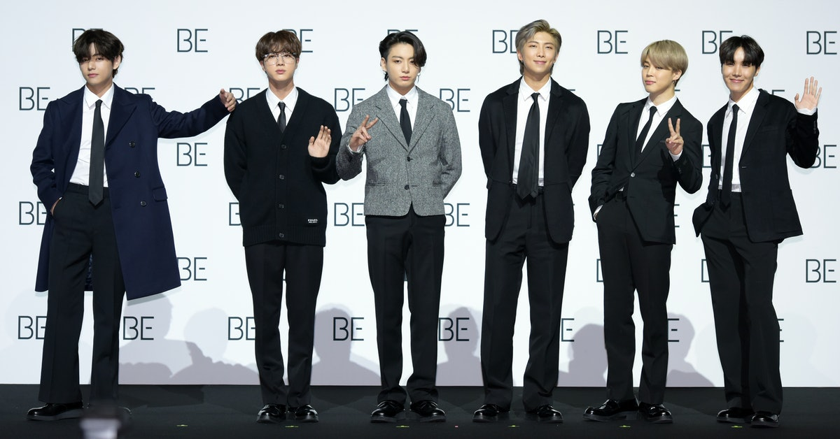 SEOUL, SOUTH KOREA - NOVEMBER 20: BTS during BTS's New Album 'BE (Deluxe Edition)' Release Press Con...