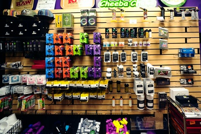 DENVER, CO - April 25, 2016: Concentrates, topical remedies, edibles and flower are on display at th...