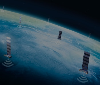Illustration of SpaceX's Starlink network of satellites.