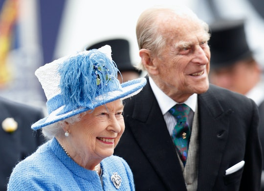 EPSOM, UNITED KINGDOM - JUNE 04: (EMBARGOED FOR PUBLICATION IN UK NEWSPAPERS UNTIL 48 HOURS AFTER CREATE DATE AND TIME) Queen Elizabeth II and Prince Philip, Duke of Edinburgh attend Derby Day during the Investec Derby Festival at Epsom Racecourse on June 4, 2016 in Epsom, England. (Photo by Max Mumby/Indigo/Getty Images)