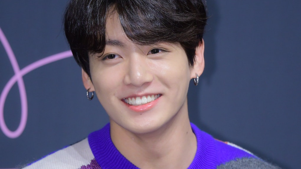 SEOUL, SOUTH KOREA - MAY 24: Jungkook of BTS attends press conference for the BTS's Third Album 'LOVE YOURSELF: Tear' Release at Lotte Hotel Seoul on May 24, 2018 in Seoul, South Korea. (Photo by The Chosunilbo JNS/Imazins via Getty Images)