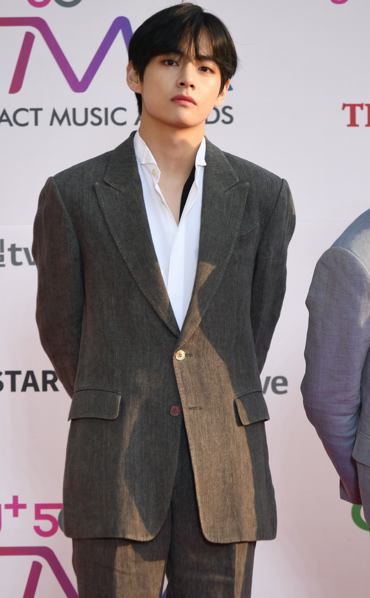 INCHEON, SOUTH KOREA – APRIL 24 : Kim Tae-Hyung member of BTS attends 'The Fact Music Awards' held a...