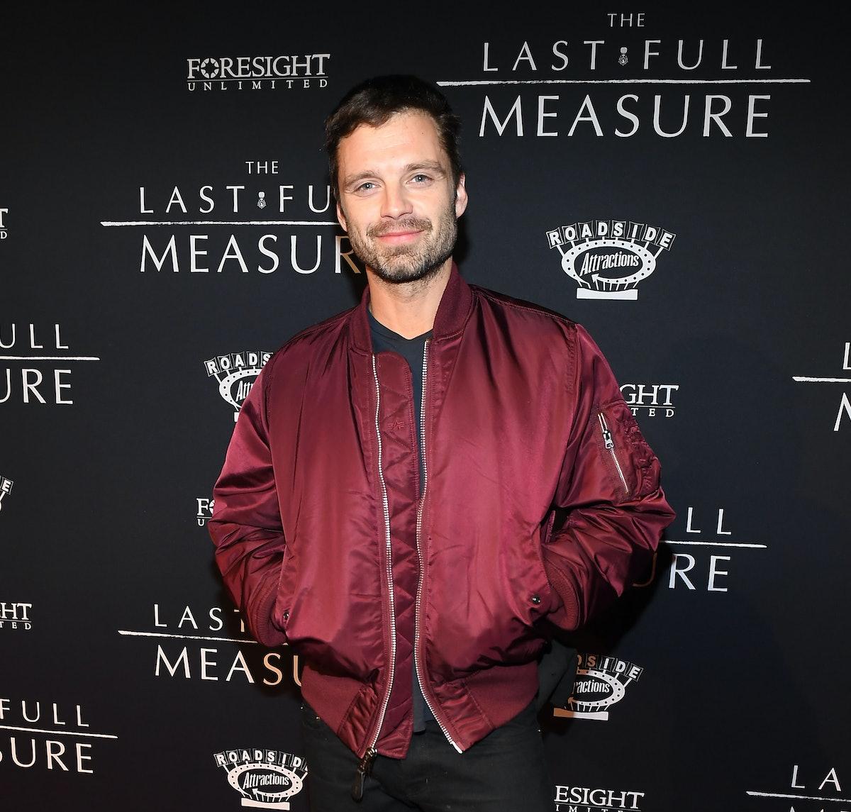 "ATLANTA, GEORGIA - JANUARY 20:  Sebastian Stan attends ""The Last Full Measure"" Atlanta red carpet sc..."
