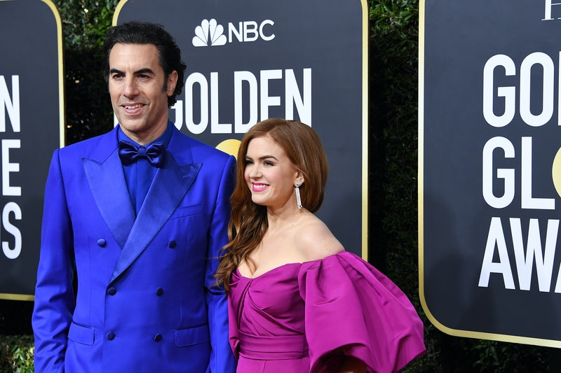 BEVERLY HILLS, CALIFORNIA - JANUARY 05: (L-R) Sacha Baron Cohen and Isla Fisher attend the 77th Annual Golden Globe Awards at The Beverly Hilton Hotel on January 05, 2020 in Beverly Hills, California. (Photo by Steve Granitz/WireImage)