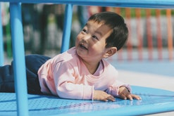 Babies can be outside in the summer as long as they aren't dehydrated.
