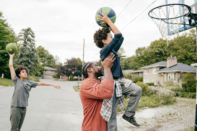 Play a game of basketball for Father's Day.