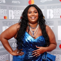 LONDON, ENGLAND - FEBRUARY 18: (EDITORIAL USE ONLY) Lizzo poses in the winners rooms at The BRIT Awa...
