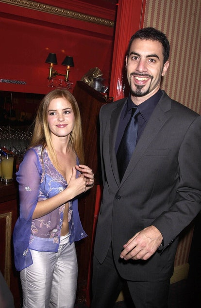 UNITED KINGDOM - MARCH 21:  Sacha Baron Cohen (who Plays Ali G) With His New Girlfriend Isla Fisher, Ali G :in Da House Movie Premiere, At The Empire Leicester Square And The Party At The Mayfair Club, London  (Photo by Dave Benett/Getty Images)