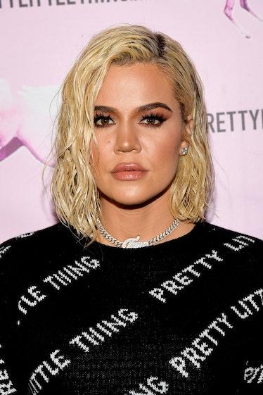 LOS ANGELES, CALIFORNIA - FEBRUARY 20: Khloé Kardashian attends the PrettyLittleThing LA Office Open...