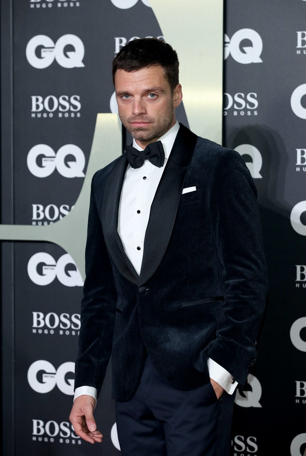 LONDON, ENGLAND - SEPTEMBER 03:   Sebastian Stan attends the GQ Men Of The Year Awards 2019 at Tate Modern on September 03, 2019 in London, England. (Photo by Mike Marsland/WireImage)