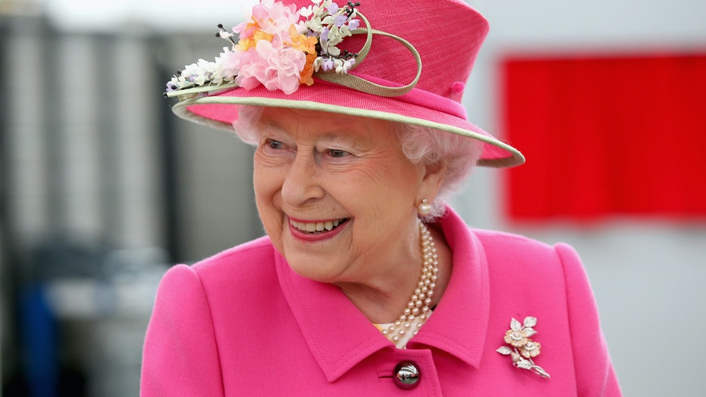 WINDSOR, ENGLAND - APRIL 20:  Queen Elizabeth II arrives at the Queen Elizabeth II delivery office in Windsor with Prince Philip, Duke of Edinburgh on April 20, 2016 in Windsor, England. The visit marks the 500th Anniversary of the Royal Mail delivery service. The Queen and Duke of Edinburgh are carrying out engagements in Windsor ahead of the Queen's 90th Birthday tommorow.  (Photo by Chris Jackson - WPA Pool/Getty Images)
