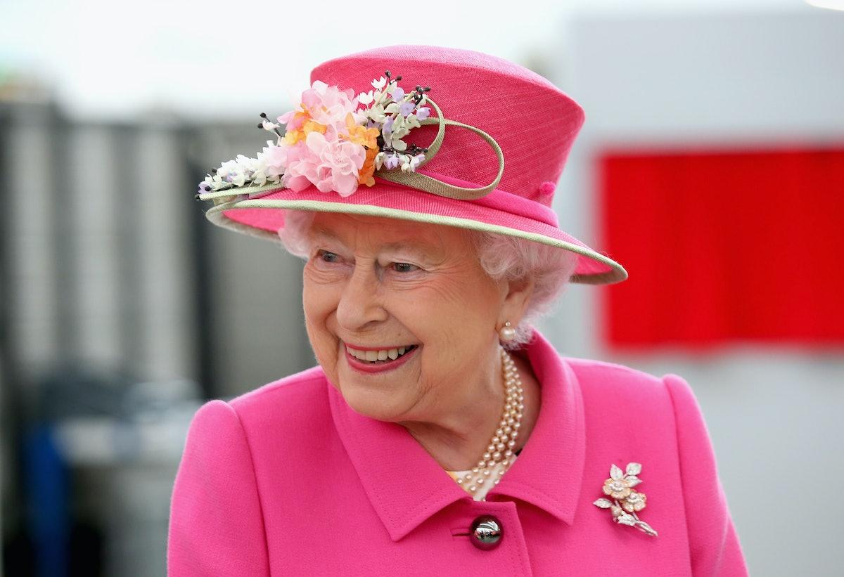 WINDSOR, ENGLAND - APRIL 20:  Queen Elizabeth II arrives at the Queen Elizabeth II delivery office i...