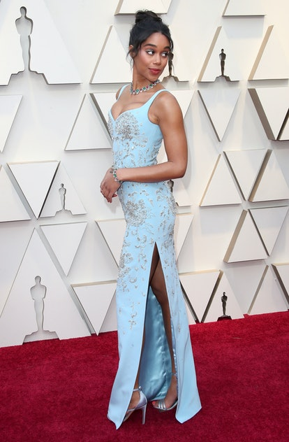 HOLLYWOOD, CA - FEBRUARY 24: Laura Harrier attends the 91st Annual Academy Awards at Hollywood and Highland on February 24, 2019 in Hollywood, California. (Photo by Dan MacMedan/Getty Images)