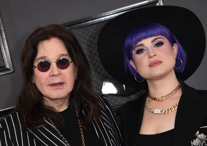 British singer-songwriter Ozzy Osbourne and his daughter Kelly Osbourne arrive for the 62nd Annual Grammy Awards on January 26, 2020, in Los Angeles. (Photo by VALERIE MACON / AFP) (Photo by VALERIE MACON/AFP via Getty Images)