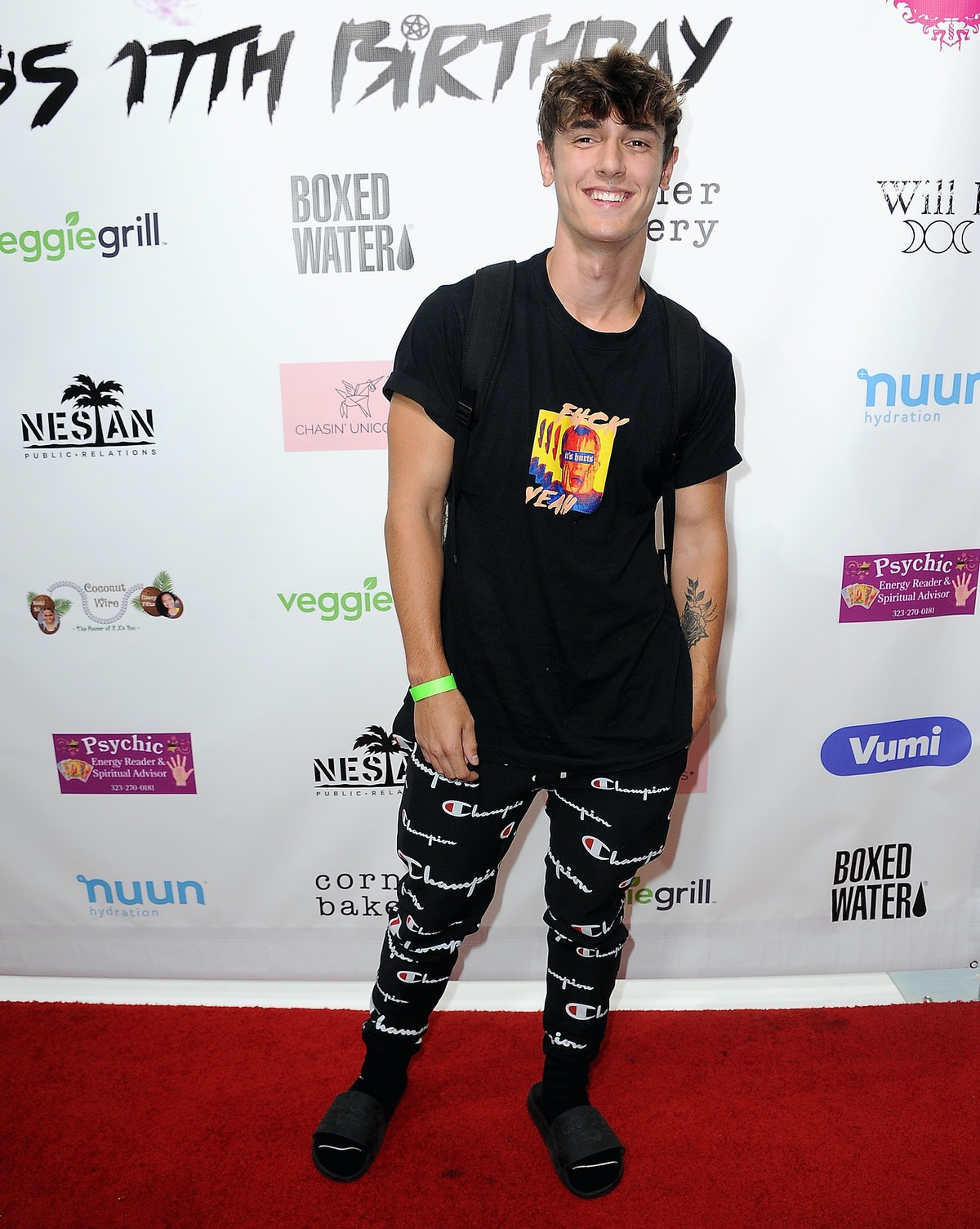 BURBANK, CA - AUGUST 17: Bryce Hall attends Singer Will B's 17th Birthday Party held at Starwest Stu...