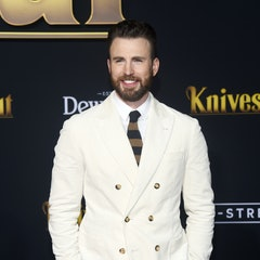 """WESTWOOD, CALIFORNIA - NOVEMBER 14: Chris Evans arrives at the premiere of Lionsgate's """"Knives Out"""" ..."""