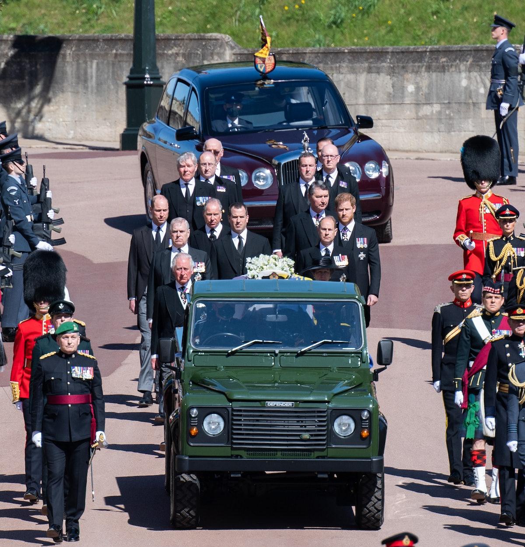WINDSOR, ENGLAND - APRIL 17:  Prince Charles, Prince of Wales, Prince Andrew, Duke of York, Prince E...