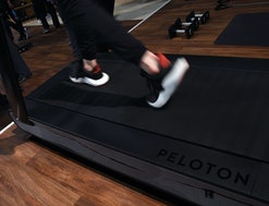 A detail shot shows the running deck of a Peloton Tread treadmill during CES 2018 at the Las Vegas Convention Center on January 11, 2018 in Las Vegas, Nevada. The USD 3,995 workout machine is expected to be available later this year and features a 32-inch touch screen that connects users to instructors giving live or on-demand fitness classes. CES, the world's largest annual consumer technology trade show, runs through January 12 and features about 3,900 exhibitors showing off their latest products and services to more than 170,000 attendees.  (Photo by Ethan Miller/Getty Images)