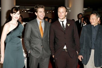 Anne Hathaway, Jake Gyllenhaal, Heath Ledger and Ang Lee (Photo by J. Vespa/WireImage)