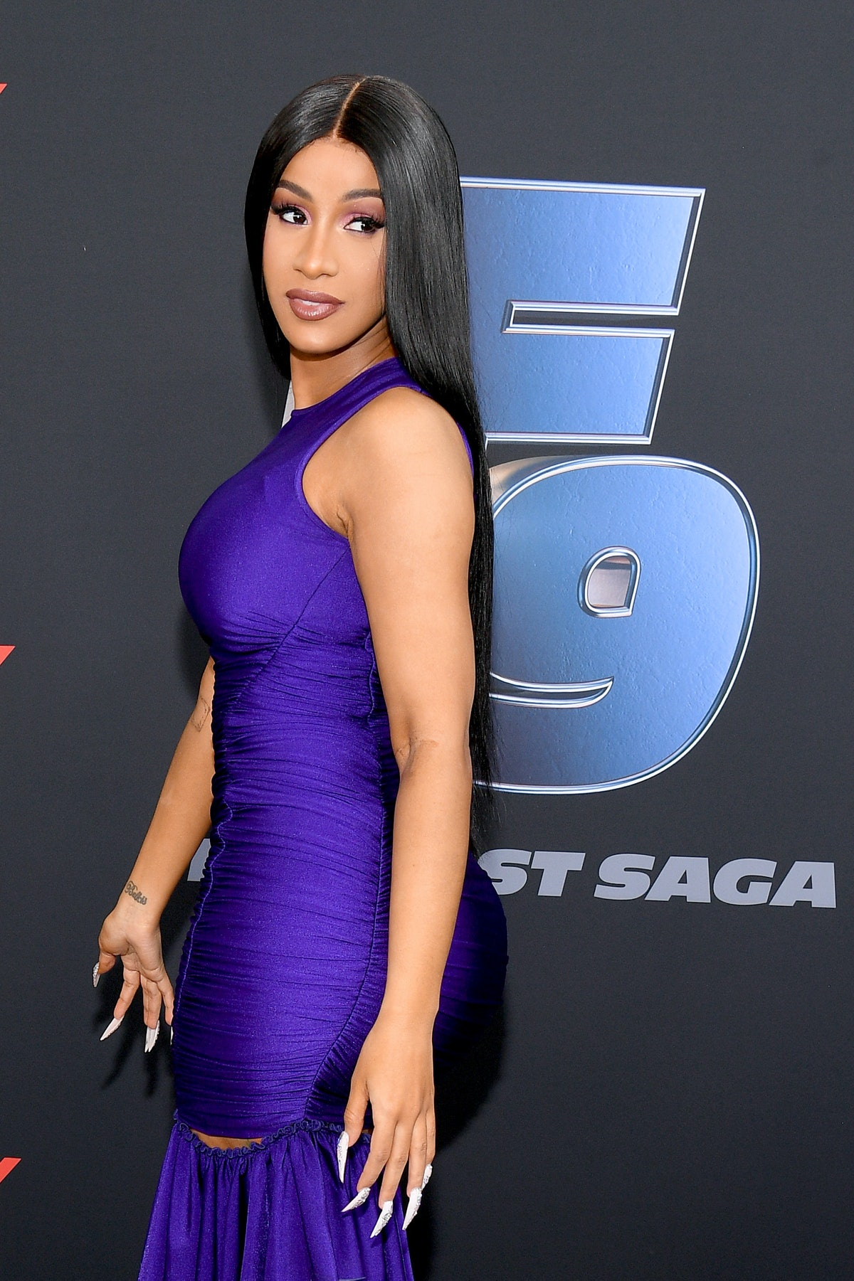 """MIAMI, FLORIDA - JANUARY 31: Cardi B attends """"The Road to F9"""" Global Fan Extravaganza at Maurice A. ..."""