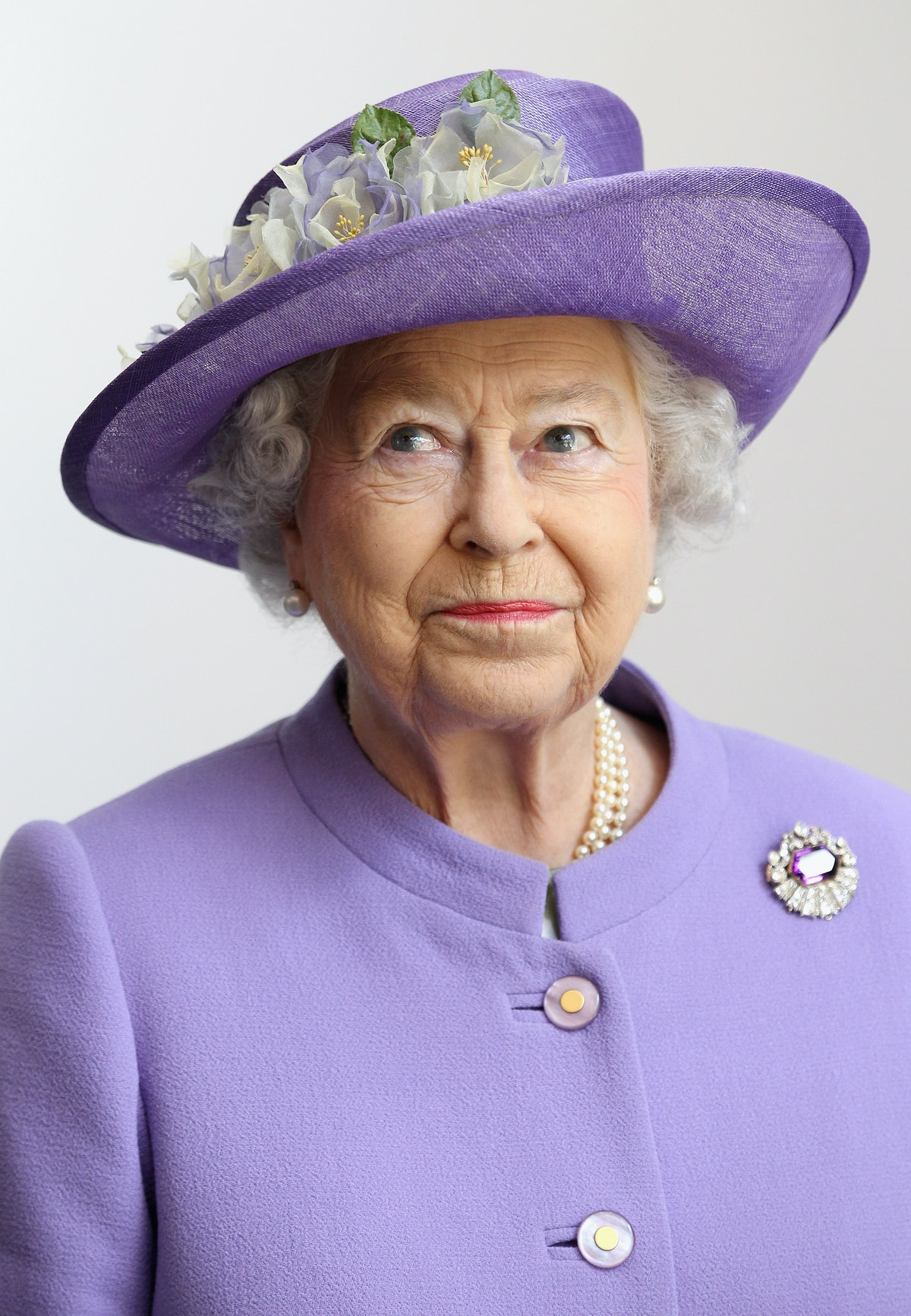 STEVENAGE, ENGLAND - JUNE 14:  Queen Elizabeth II visits a new maternity ward at the Lister Hospital...