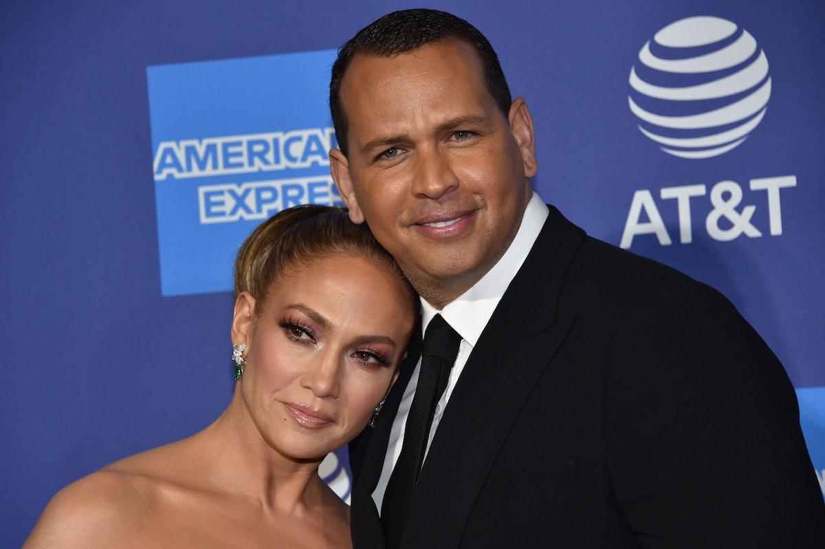 US actress Jennifer Lopez (L) and partner US former baseball player Alex Rodriguez arrive for the 31...