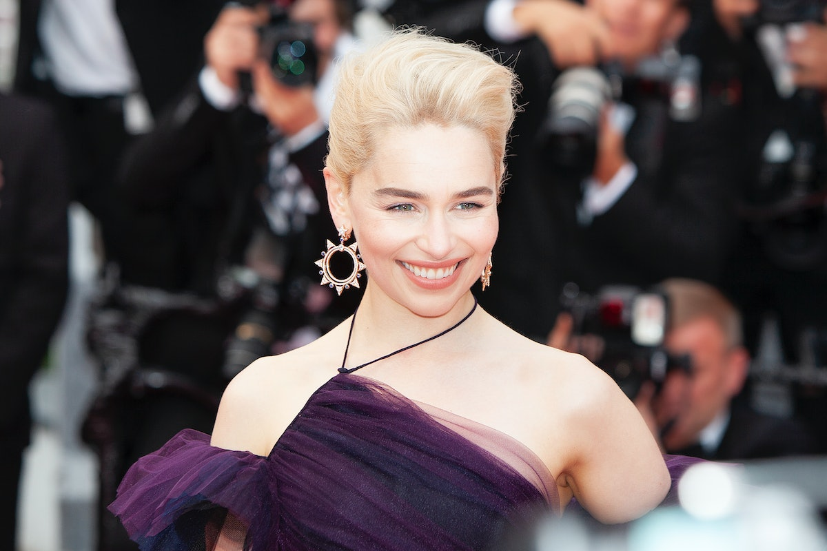 CANNES, FRANCE - MAY 15: Emilia Clarke attends the screening of 'Solo: A Star Wars Story' during the...