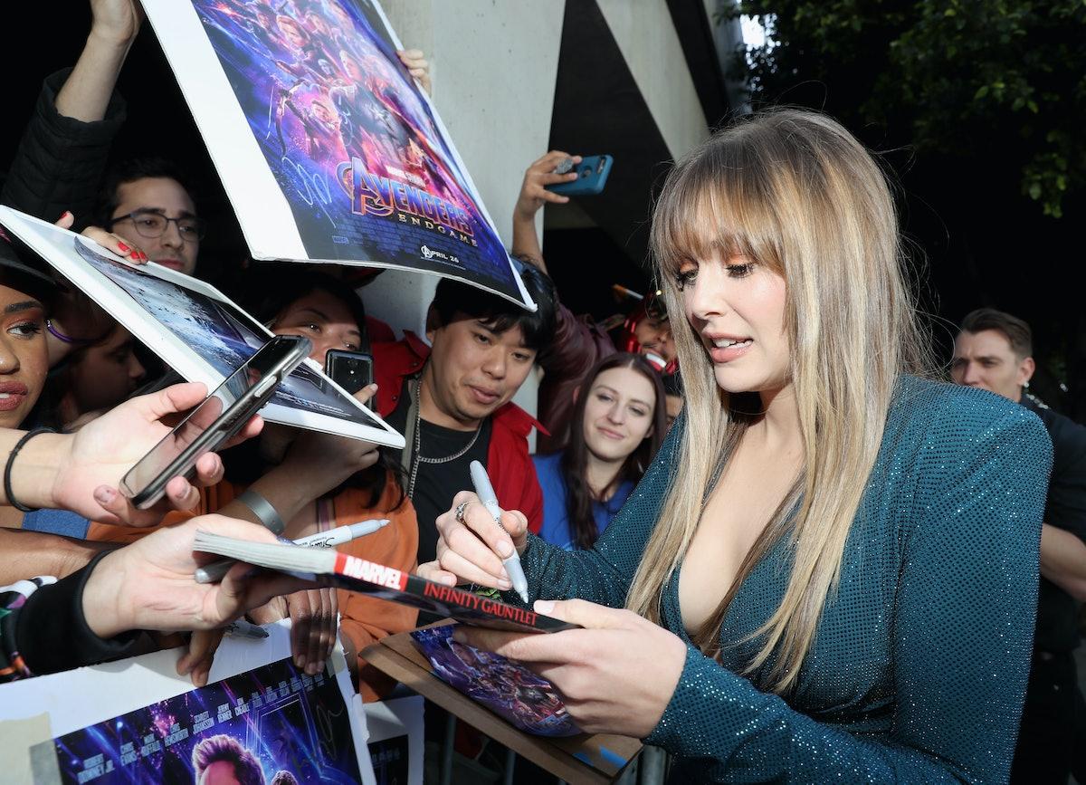 LOS ANGELES, CA - APRIL 22:  Elizabeth Olsen attends the Los Angeles World Premiere of Marvel Studio...