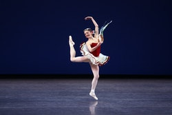 "New York City Ballet presents ""Americana x Five"" at David H. Koch Theater on Friday night, October 2, 2015.This image:Megan Fairchild in ""Tarantella.""(Photo by Hiroyuki Ito/Getty Images)"