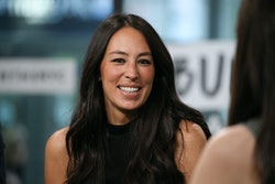 "NEW YORK, NY - OCTOBER 18:  Joanna Gaines discusses new book, ""Capital Gaines: Smart Things I Learned Doing Stupid Stuff"" at Build Studio on October 18, 2017 in New York City.  (Photo by Rob Kim/Getty Images)"
