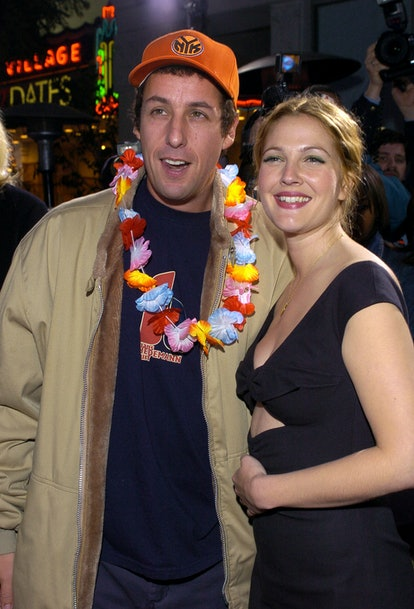 """Adam Sandler and Drew Barrymore during """"50 First Dates"""" Premiere - Red Carpet at Mann Village Theatre in Westwood, California, United States. (Photo by L. Cohen/WireImage)"""