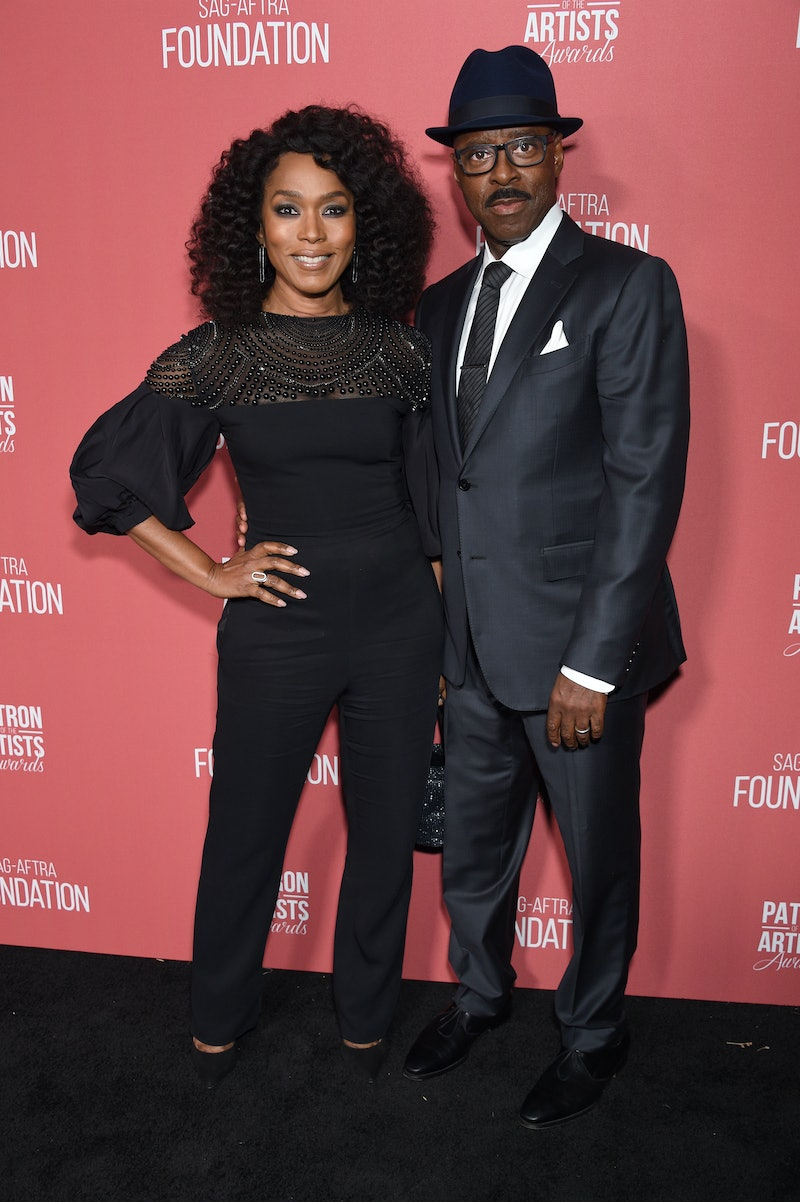 BEVERLY HILLS, CALIFORNIA - NOVEMBER 07: (L-R) Angela Bassett and SAG-AFTRA Foundation president Courtney B. Vance attends SAG-AFTRA Foundation's 4th Annual Patron of the Artists Awards at Wallis Annenberg Center for the Performing Arts on November 07, 2019 in Beverly Hills, California. (Photo by Gregg DeGuire/Getty Images for SAG-AFTRA Foundation)