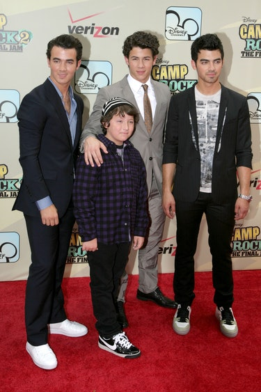 - AUGUST 18: (L-R) Kevin Jonas, Frankie Jonas, Nick Jonas and Joe Jonas attend Disney Channel Hosts ...