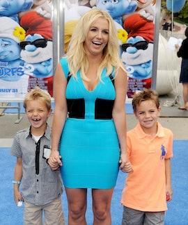 WESTWOOD, CA - JULY 28:  Singer Britney Spears, sons Sean Federline and Jayden James Federline arriv...