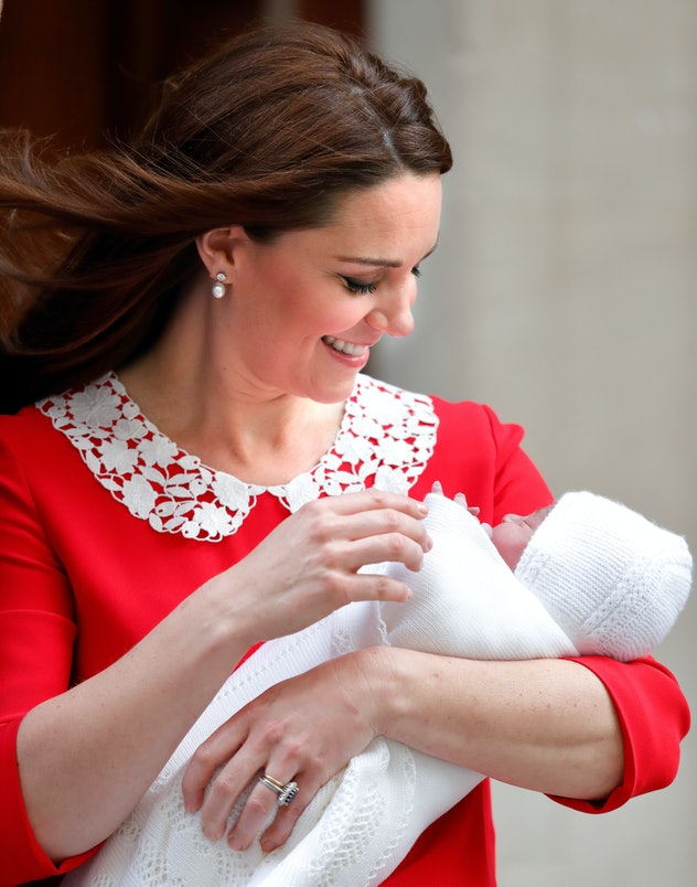 Prince Louis started out making his mom smile.