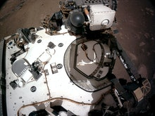 MARS - FEBRUARY 20:  In this handout provided by NASA, the Navigation Cameras, or Navcams, aboard NA...