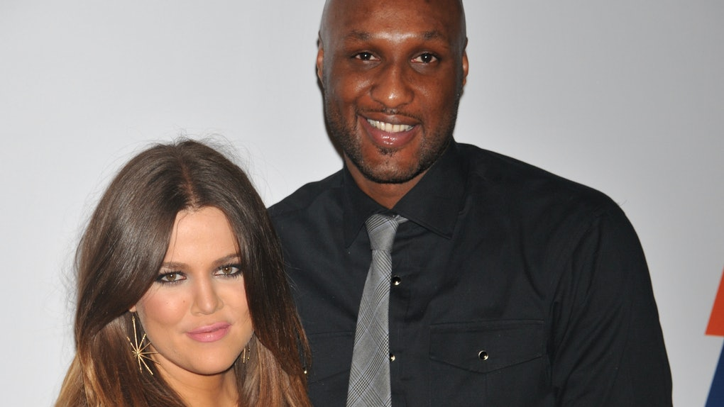 Actress Chloe Kardashian and Lamar Odom arrive at the 19th Annual Race to Erase MS held at the Hyatt Regency Century Plaza on May 18, 2012 in Century City. (Photo by Frank Trapper/Corbis via Getty Images)
