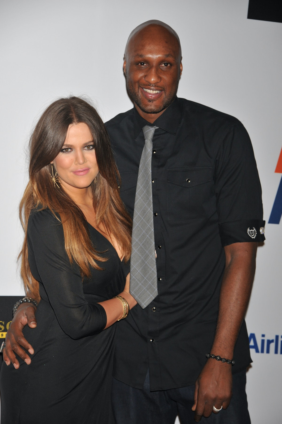 Actress Chloe Kardashian and Lamar Odom arrive at the 19th Annual Race to Erase MS held at the Hyatt...